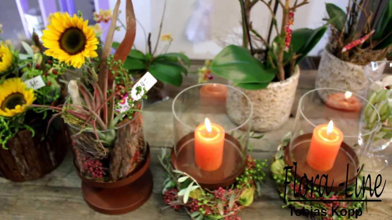 herbstfloristik 2013 by flora line youtube. Black Bedroom Furniture Sets. Home Design Ideas