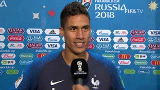 Raphael VARANE (France) - Post Match Interview - MATCH 21