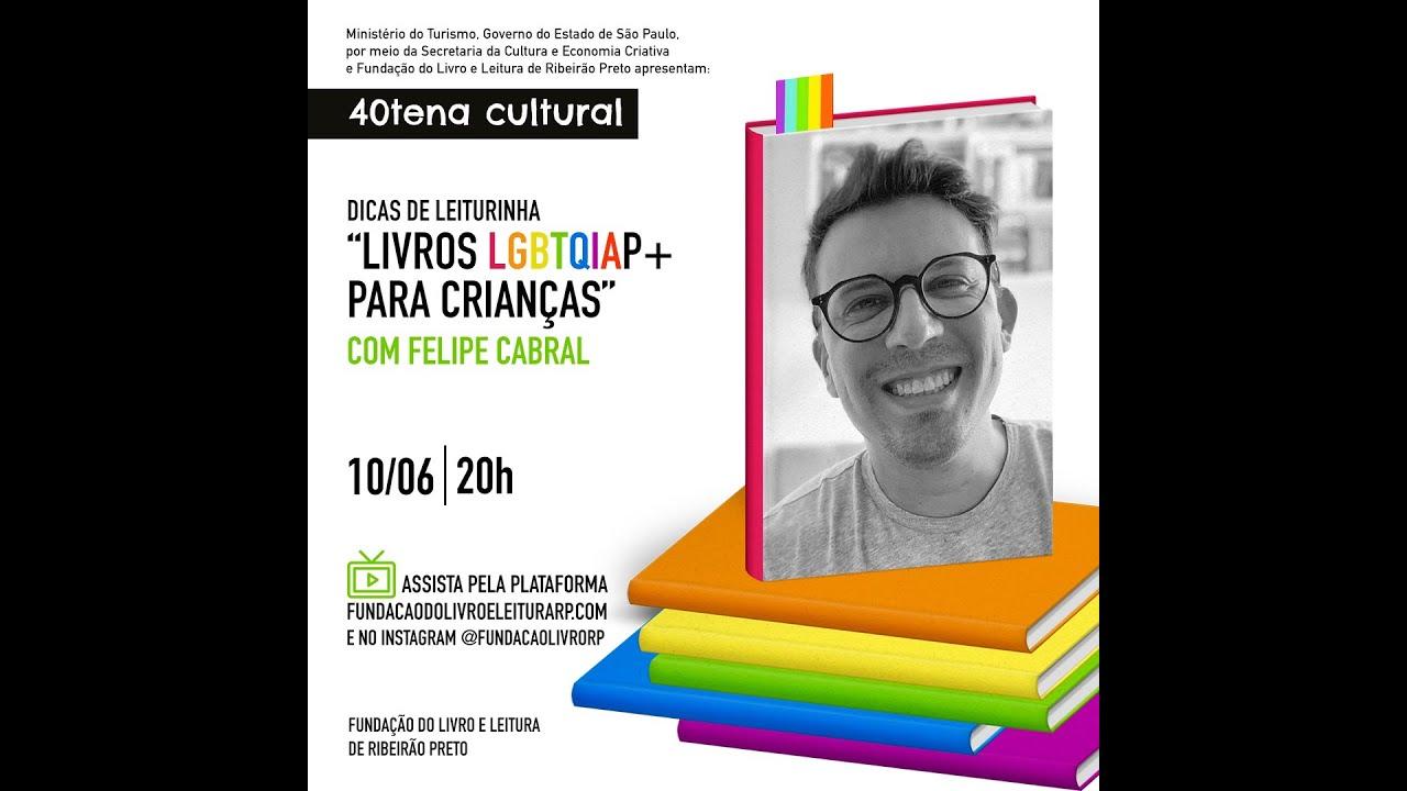 """Felipe Cabral, do canal """"Eu Leio LGBT"""", participou do quadro Dicas de Leiturinhas"""