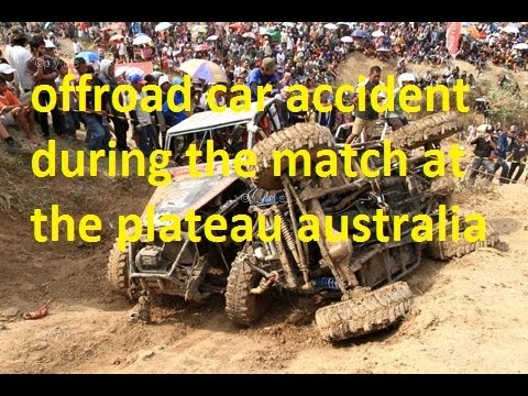 offroad car accident during the match at the plateau australia