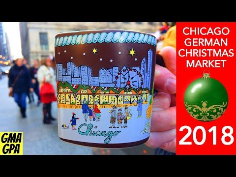 The Christkindlmarket - German Christmas Market In Chicago, Illinois 2018 - Schnitzel & Ornaments!