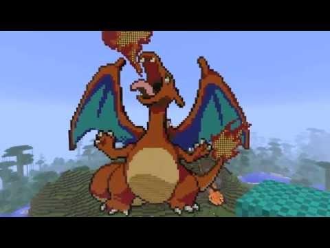 Minecraft Pixel Art Timelapse - Charizard - YouTube