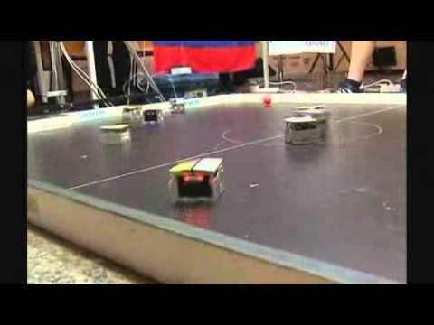 BBC NEWS   UK   Cube Robots Play Football