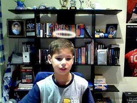 Boy Testing His New Webcam