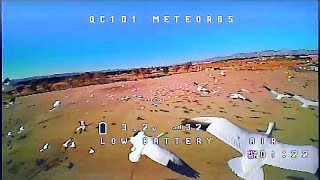 Meteor65 1S Tiny Whoop FPV Drone with High Current Connector Flight Test Review