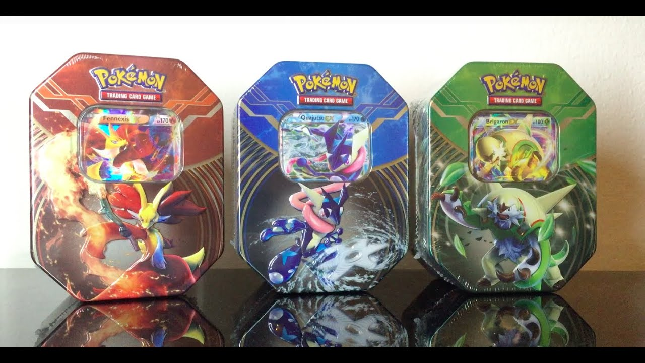 pokemon x y brigaron ex tin box booster opening omg youtube. Black Bedroom Furniture Sets. Home Design Ideas