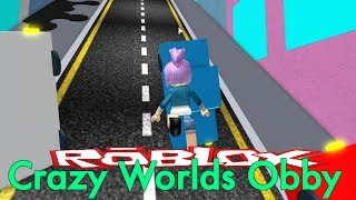 FALLING CARS - Roblox Crazy Worlds Obby