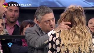 Flor Vigna tuvo que ser atendida tras recibir un golpe que le provocó sangrado