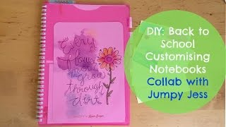 Diy Back To School: Customising Notebooks & Labels | Collab With Jumpy Jess