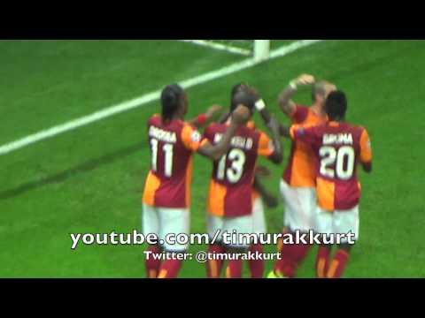 Galatasaray-Kopenhag 3-1 Şampiyonlar Ligi Maçı Eboe'nin asisti ve Drogba' nın golü