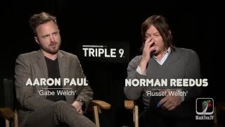 Norman reedus and aaron paul interview triple 9