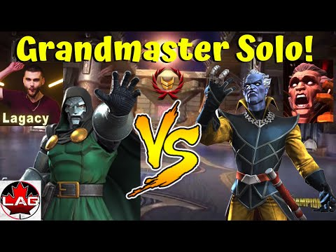 Doctor Doom VS Grandmaster Full Solo! One-Shot! - Marvel Contest Of Champions