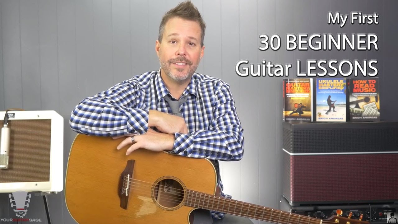30 guitar lessons for beginners youtube 30 guitar lessons for beginners baditri Images
