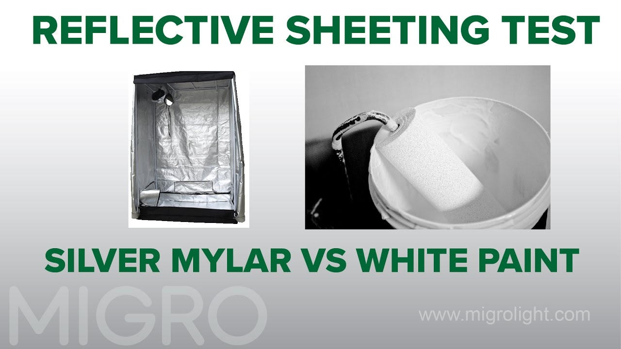 Grow room reflective sheeting white paint vs silver for Best white paint for grow room