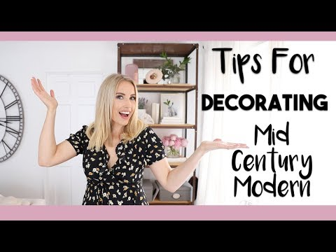 INTERIOR DESIGN | How to Style a MID CENTURY MODERN Apartment