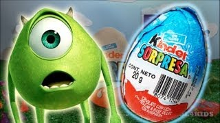 Kinder Surprise - Monsters Inc. Movie (Mike) - Toy Story Buzz Lightyear Mario Bros Lightning McQueen