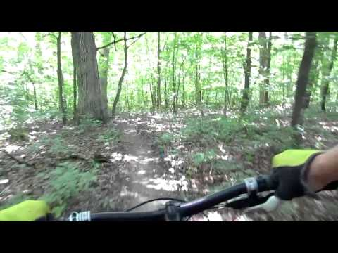 Beulah Park Mountain Bike Trails - Zion, Illinois July 2013