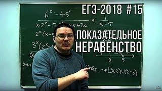 Показательное неравенство   ЕГЭ-2018. Задание 15. Математика. Профильный уровень   Борис Трушин