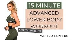 ADVANCED 15 minute LOWER BODY WORKOUT | Pia Lamberg