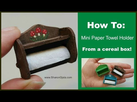 How To Make A Miniature Paper Towel Holder - No Wood Used