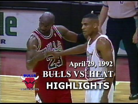 Apr 29, 1992 Bulls vs Heat game 3 highlights