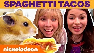 Tiny Kitchen Ft. iCarly Spaghetti Tacos! 🍝 | Nick
