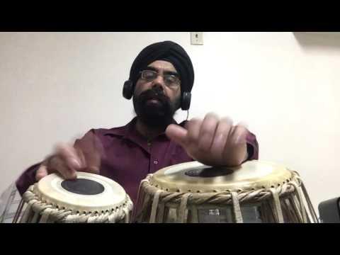 Tabla Lessson # 160 Jai Ganesha Bhajan - Khemta Beat