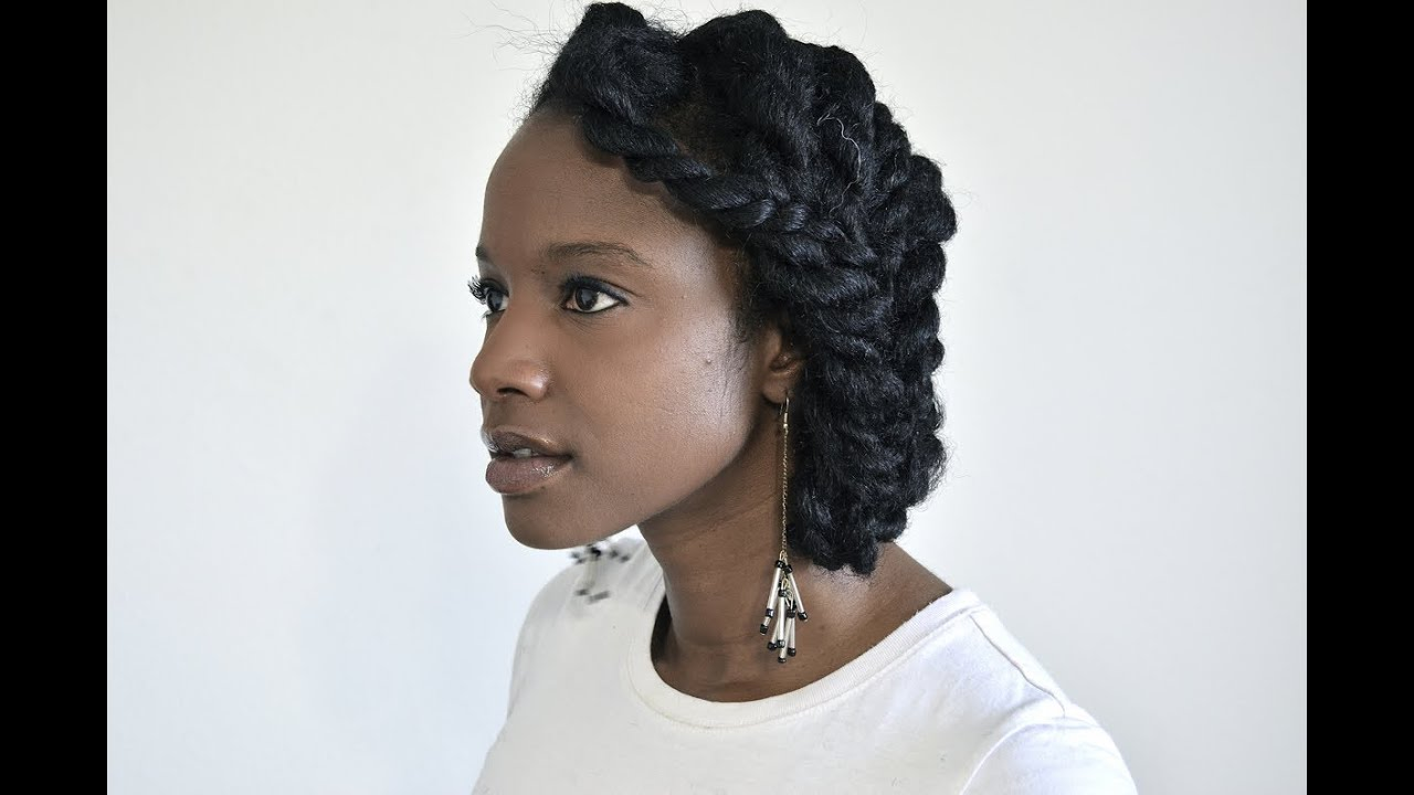 Chunky Two-strand Flat Twist Protective Style Updo For