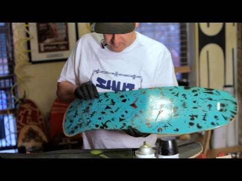 Intricate Stencils for Custom Painting | Custom Skateboard