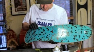 Intricate Stencils for Custom Painting   Custom Skateboard