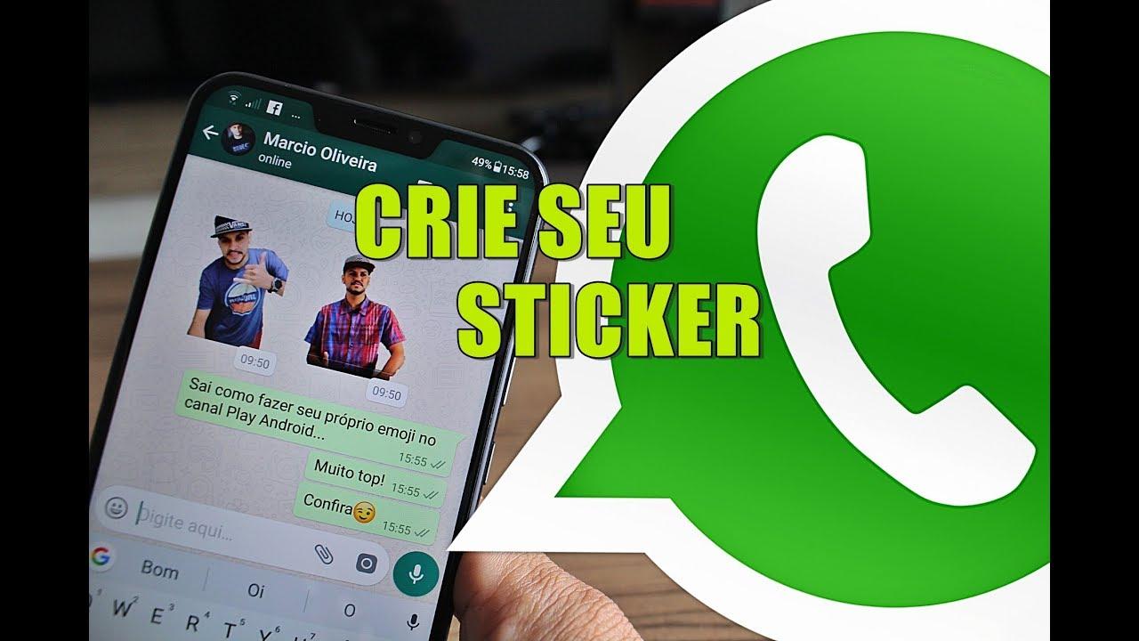 como adicionar stickers no whatsapp android