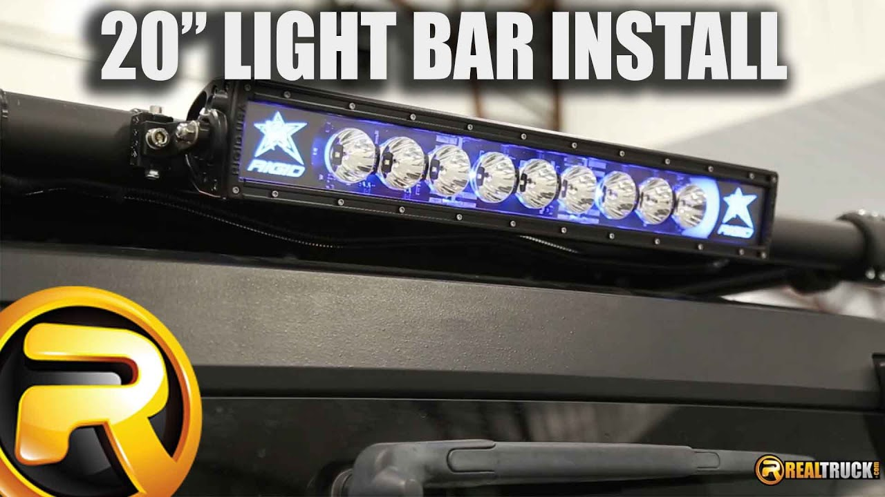 How to install rigid industries radiance 20 inch led light bar how to install rigid industries radiance 20 inch led light bar youtube aloadofball Images