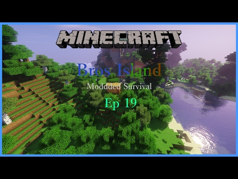 Minecraft: Bros Island Survival Ep: 19 | Library has light!
