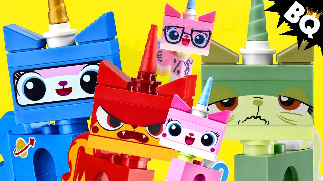 LEGO Movie Unikitty Updated Figure Comparison
