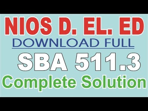 SBA 511.3 Contribution to school programmes full solved in Hindi