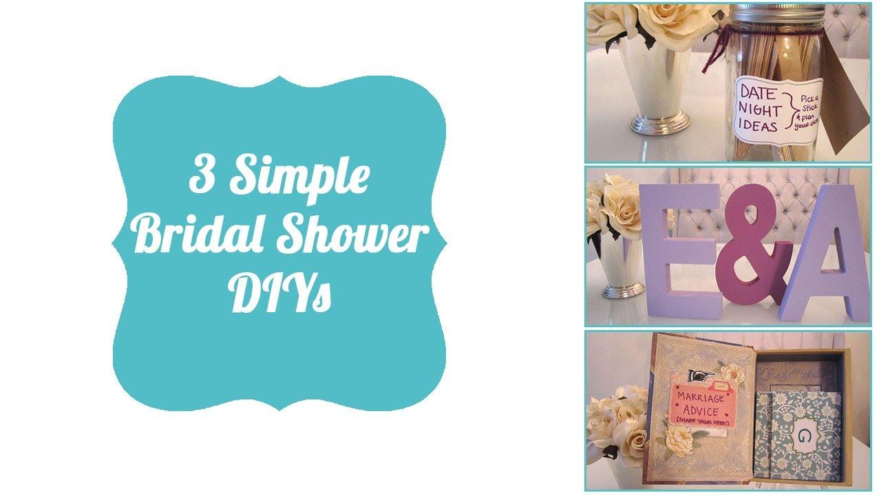 3ffcae65c260 3 Simple Bridal Shower DIYs - YouTube