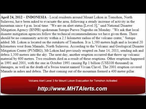 Volano Alert Mount Lokon Evacuation Status Level 3