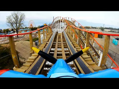 Kentucky Flyer Roller Coaster POV! Front Seat View 4K - Kentucky Kingdom New 2019