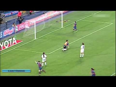 Primer Gol de Messi con el Primer equipo del Barcelona 01-05-2005 [HD]