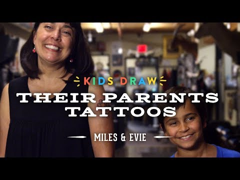 Miles Designs His Mom's First Tattoo | Kids Draw | Cut