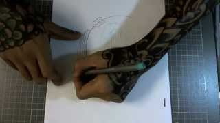 How to Draw Koi Fish in Tattoo Style: Speed Drawing Demo ( Part 1/2 )