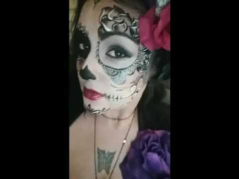 Pretty Dead Faces Day Of The Dead Dia De Los Muertos Sugar Skull