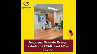 Amadeux Orlando Ortega, estudiante FCAB nivel A2.