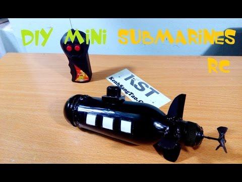 DIY mini submarines remote control, How to make mini submarines RC