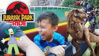 JURASSIC STUDIOS! Universal Studios DAY 2 - ft. Transformers, The Mummy & Jurassic Park Ride!