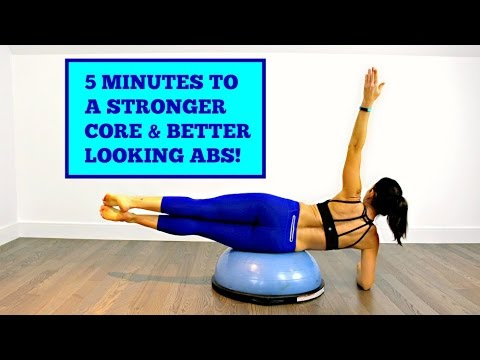 5 minutes to better abs  core workout on the bosu  youtube