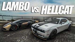 Widebody Hellcat Takes On The Lambo