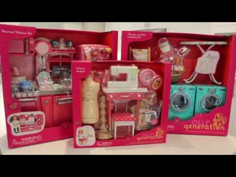 Our Generation Doll Tumble & Spin Laundry Set Review!