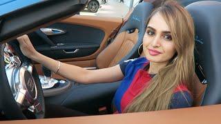 Girl Driving a Bugatti in Dubai !!!