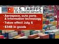 International and domestic impact of U.S. tariffs on Chinese imports